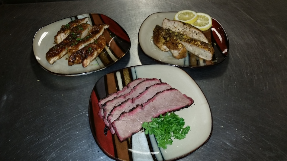 Mitch Moody's Tri-tip, Lemon Pepper Chicken, Bourbon Brown Sugar Glazed Chicken