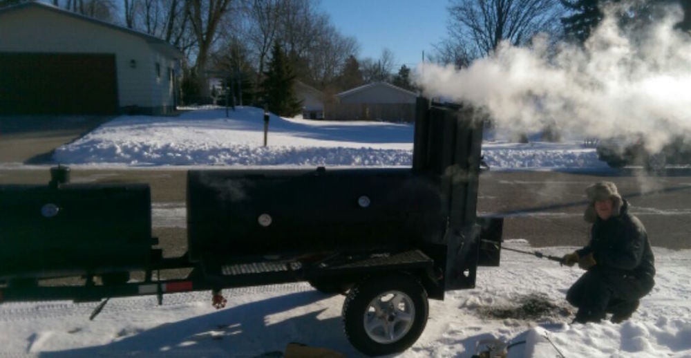 smoker cooking in the cold ... holding temperature